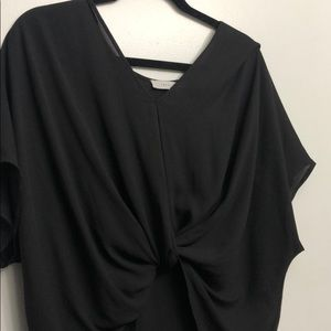 Black loose fit Lush blouse with front knot S